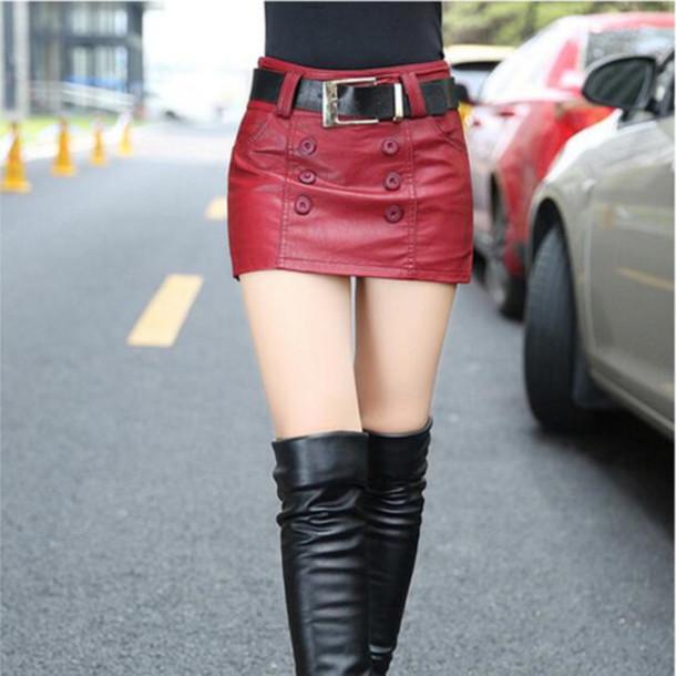 skirt, red skirt, mini, mini skirt, sexy skirts, clubwear, girly .