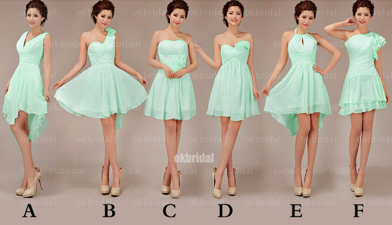Mint bridesmaid dresses, cheap bridesmaid dresses, chiffon .