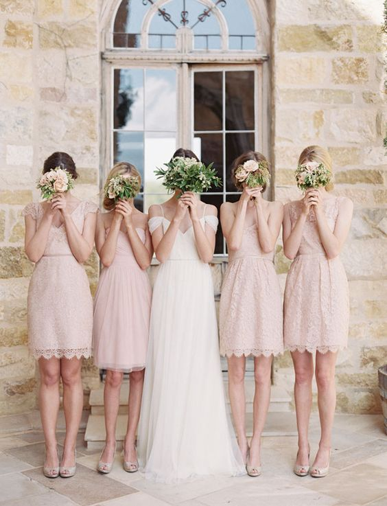 Bridesmaid Dresses,Lace Bridesmaid Dresses,Mismatched Bridesmaid .