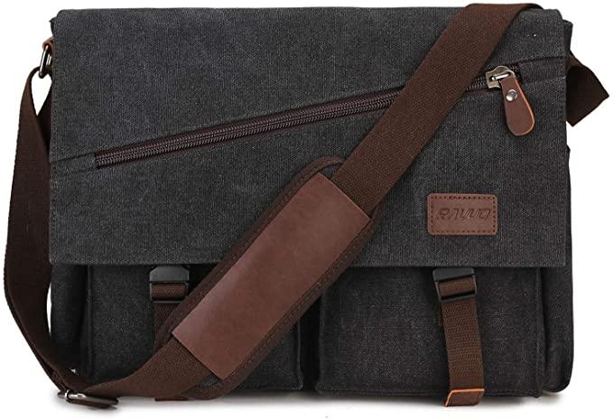 Amazon.com: Messenger Bag For Men,Water Resistant Unisex Canvas .