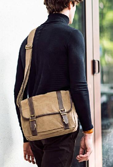 Canvas over the shoulder bag, men bags - BagsEar