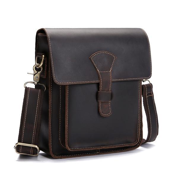 Handmade Vintage Leather Messenger Bags, Mens Leather Shoulder .