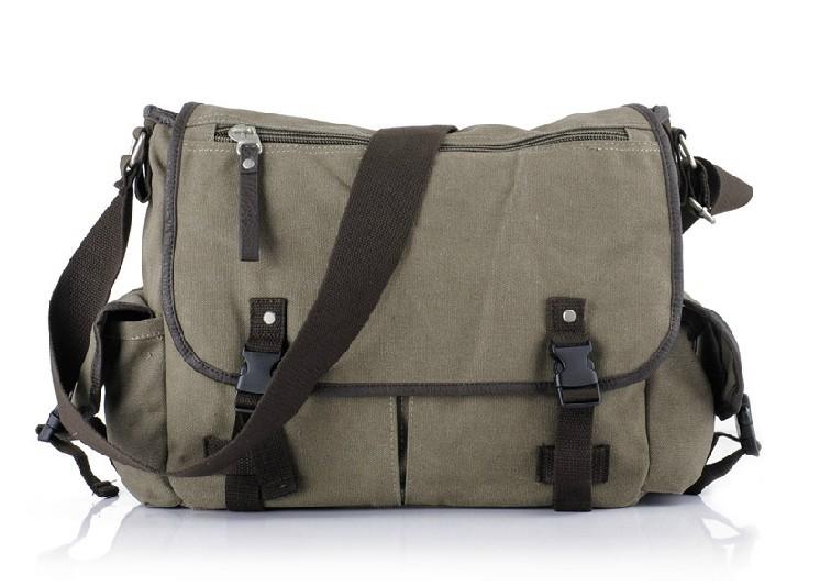 Canvas shoulder messenger bag, canvas messenger bag men - BagsEar