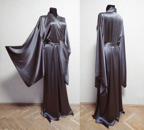 Long silk robe Silk kimono robe 24 colors 100 Natural Silk | Et