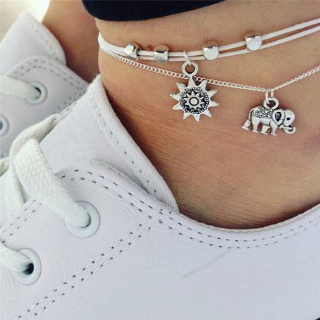 Silver Anklets and Shoelaces for Sexy Footwe