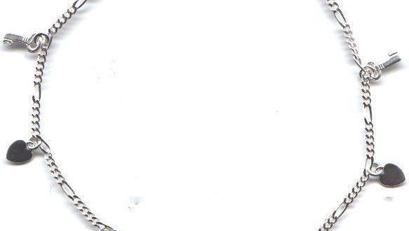 Charm Anklet STERLING Silver Anklets Braclete #SSA-116 - Buy .