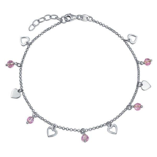 Shop Multi Heart Crystal Pink Anklet Dangle Charms Anklet Ankle .