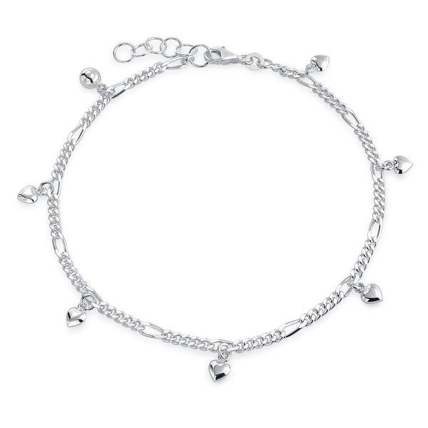 Shop Multi Heart Dangle Charms Anklet Ankle Bracelet For Women 925 .