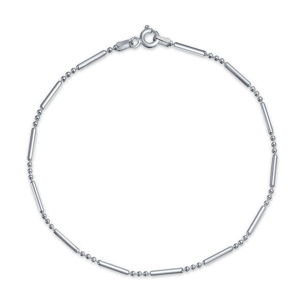 Shop Simple Plain Bar Ball Link Chain Anklet Charm Hot wife Ankle .
