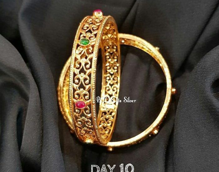 gold plated silver bangles from bcos its silver | Gold plated .