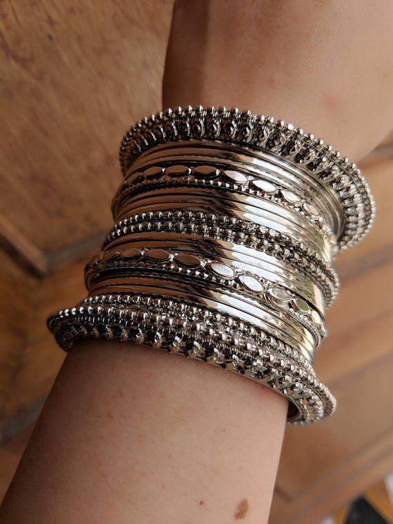 Indian jewelry,silver oxidised jewelry,oxidised bangles, bangles .