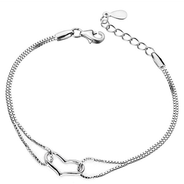 2017 Romantic Simple Bracelet Women Fine Jewelry Silver Plated .