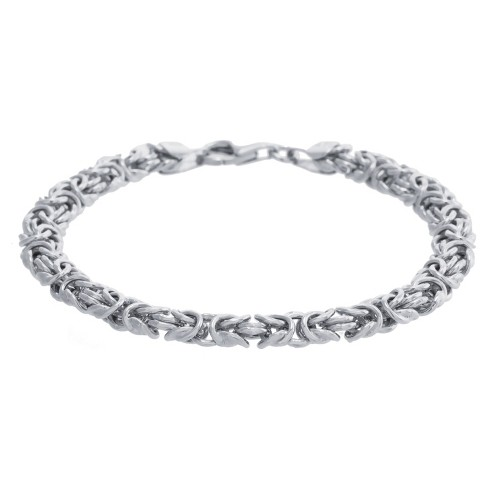 "Women's Sterling Silver Byzantine Chain Bracelet (7.5"") : Targ"