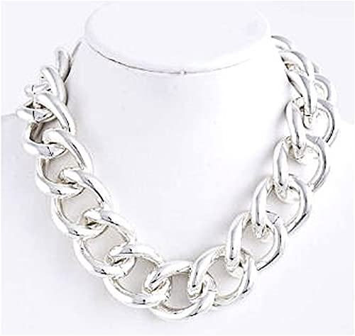 Amazon.com: Chunky Silver Chain Necklace - Chunky Silver Necklace .