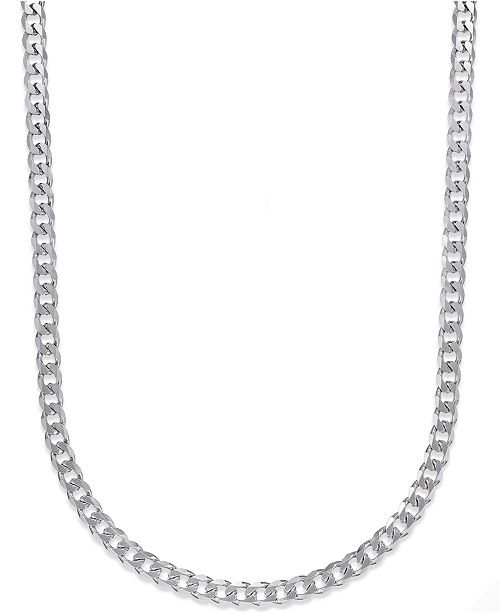 Macy's Men's Curb Chain Necklace in Sterling Silver & Reviews .