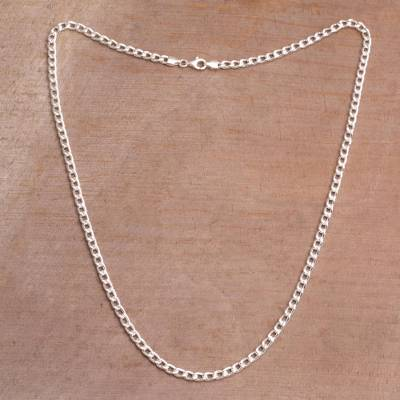 Sterling Silver Cuban Link Chain Necklace from Bali - Heavenly .