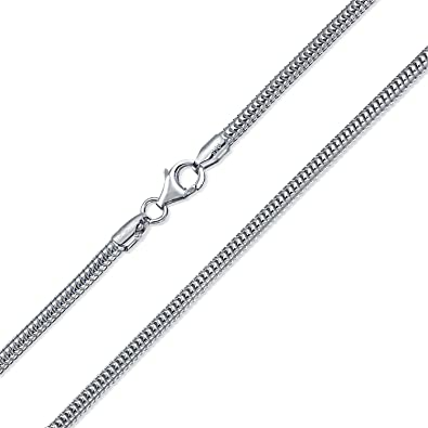 Heavy 320 Gauge Strong Flexible 925 Sterling Silver Snake Chain .