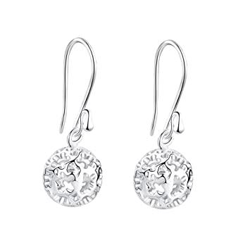 Amazon.com: SA SILVERAGE Sterling Silver Dangle Earrings Hollow .