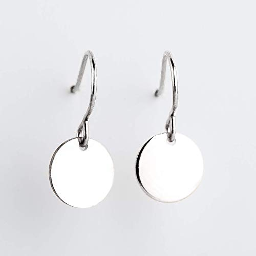 Amazon.com: Round Circle Disc dangle drop Earrings in Sterling .