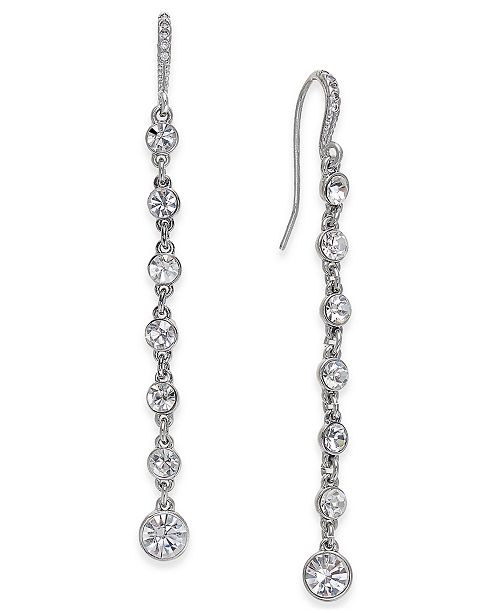 INC International Concepts INC Silver-Tone Crystal Linear Drop .