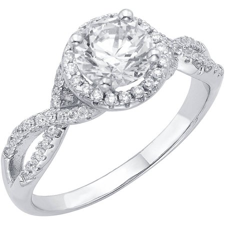 ONLINE - 1/2 Carat T.G.W. Australian Crystal and CZ Sterling Silver .