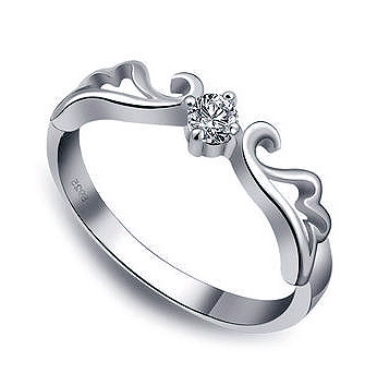 Magic Wings Sterling Silver 925 Engagement Ring | Nadine Jard