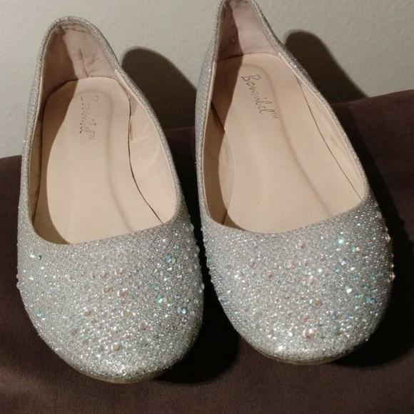 Bonnibel Shoes | Womens Silver Ballet Flats Size 65 | Poshma