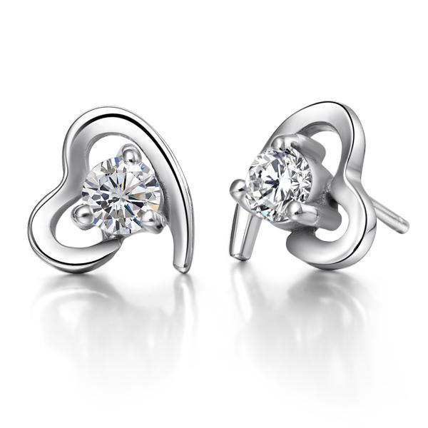 2020 925 Silver Jewelry Hearts Earrings Swiss Diamond Earrings The .