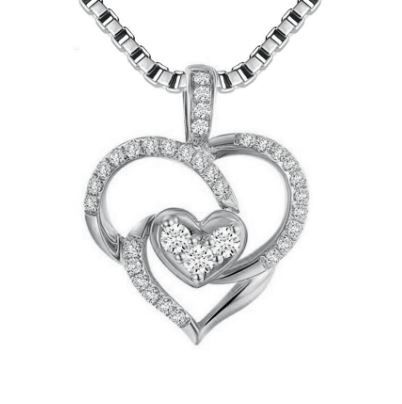 Unique Heart with 925 Sterling Silver Necklaces & Pendants for .