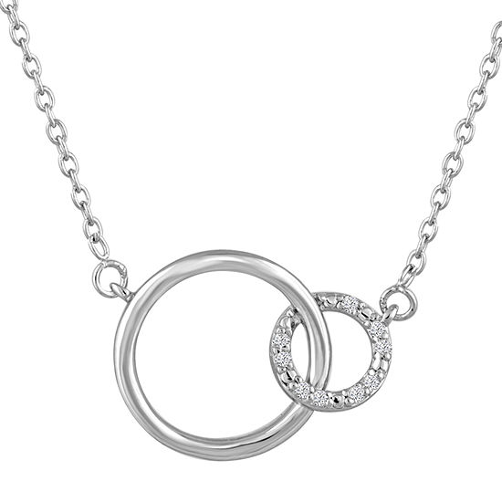 Women's Diamond Accent Sterling Silver Pendant Necklace-JCPenn