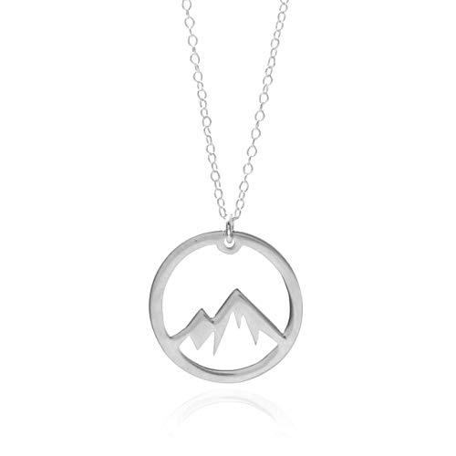 Amazon.com: Silver Mountain Necklace - A Sterling Silver Circle .