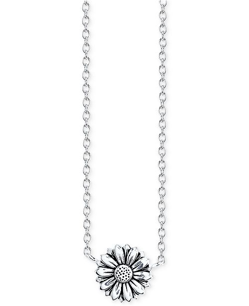 Unwritten Sunflower Pendant Necklace in Sterling Silver & Reviews .