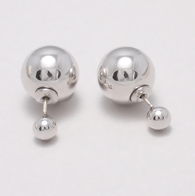 Double Sided Earrings - silver stud earrings by Shamelessly Spark