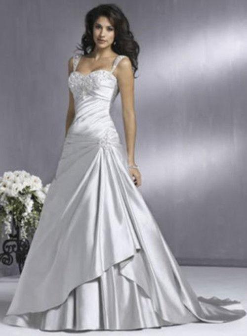 Sexy New White/Silver Wedding Dress Custom Size Colour #2547816 .