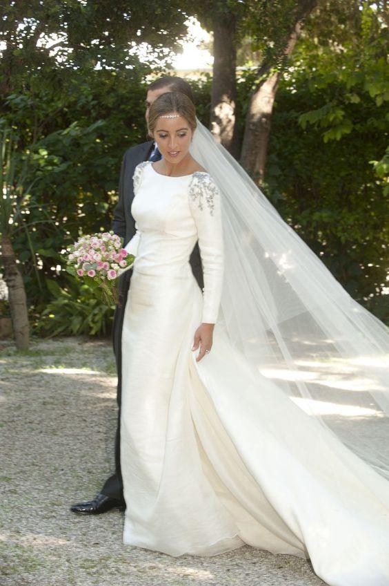 Ivory Mermaid Wedding Dresses Long Sleeve Silver Beading Bridal .