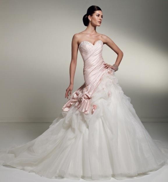 Pink white and silver wedding dresses - Wedding Port