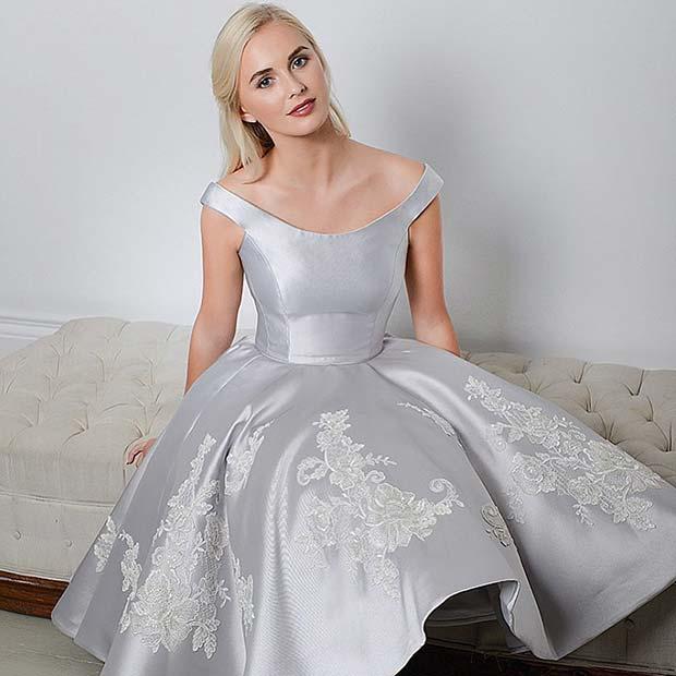 Short Silver Wedding Dresses | Weddings Dress