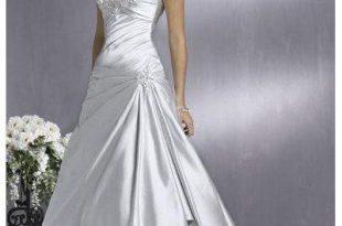 lace-wedding-dresses on | Wedding dresses satin, Silver wedding dre