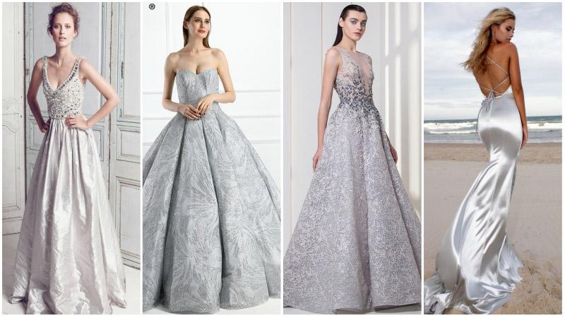 Stunning Silver Wedding Dresses That'll Make You Shine-TheTrendSpott