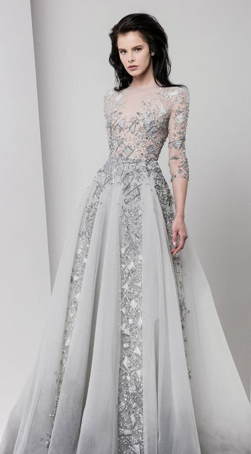 Unique Silver and Grey Jewel Beaded Wedding Dress | Gowns, Ball .