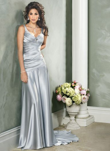 silver-Wedding-Dress | Silver wedding dress, Anniversary dre
