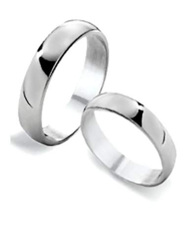 4mm Classic Sterling Silver Couples Wedding Rings | JustMensRings.c