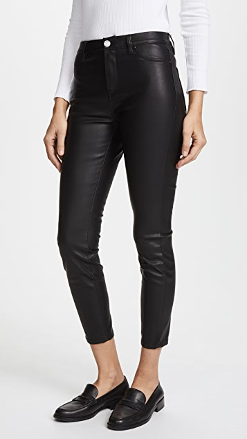 Blank Denim The Principle Mid Rise Vegan Leather Skinny Pants .