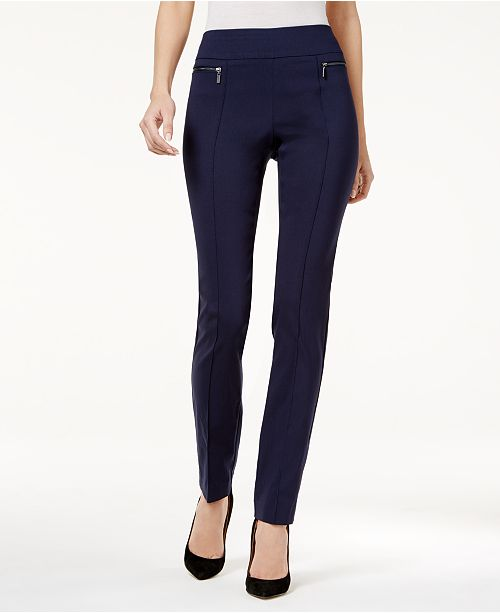 Style & Co Petite Seamed Pull-On Skinny Pants, Created for Macy's .