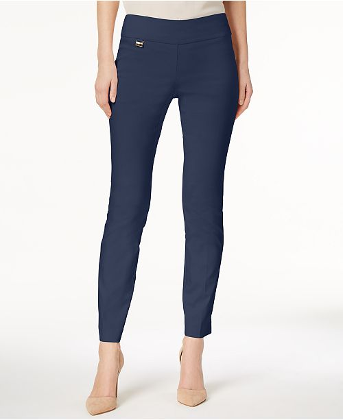 Alfani Tummy-Control Pull-On Skinny Pants, Regular, Short, and .