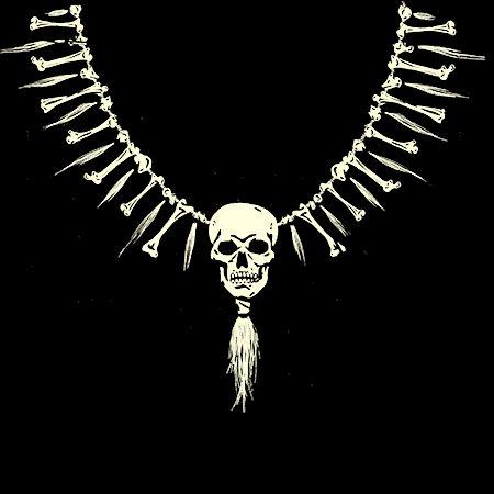 Skull Necklace - La Rocka! U