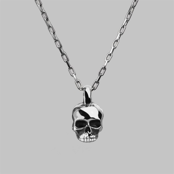 Small Skull Necklace - Sterling Silver | Stephen Einho