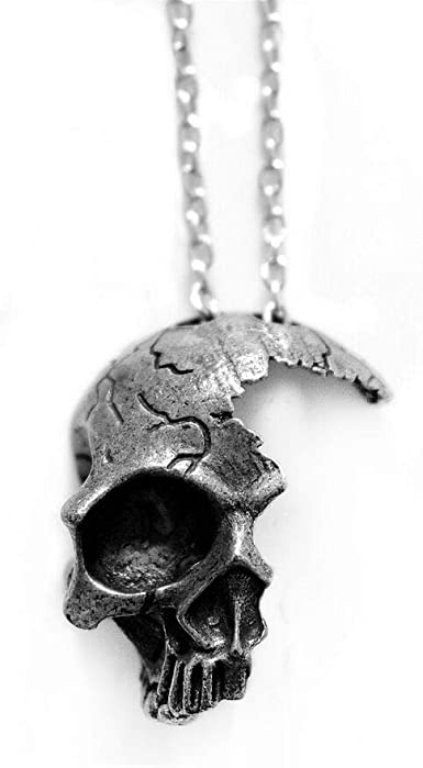 HAQUIL Punk Jewelry Jewelry Broken Half Skull Necklace for Broken .