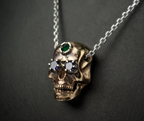 Sugar skull necklace - Tyvodar .c