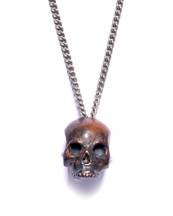 Torched Steel Skull Necklace – Strange Wa